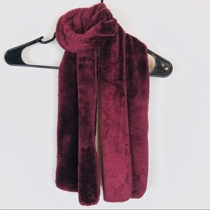 The North Face Fuzzy Burgundy Scarf